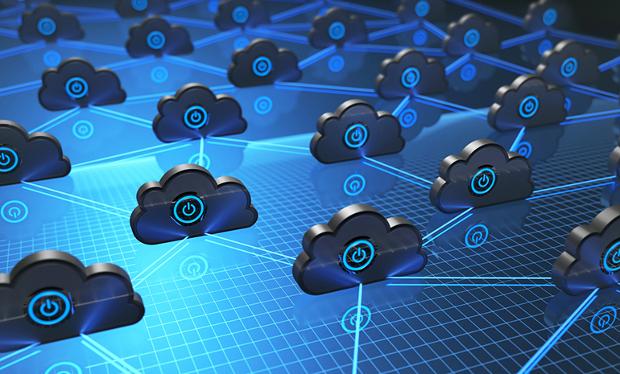 3D illustration. Image background concept of cloud computing.